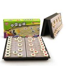Китайский Шахматный набор Магнитная Складная Настольная игра 19,5*19,5*3 см Xiangqi шахматная игра в штучной упаковке chessman J080