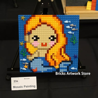 32*32 Plate Pixel Art Mosaic Painting Mermaid Portrait Figures DIY Building Blocks Toys For Girls Creative Christmas Gifts