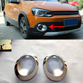 car-styling ABS chrome front rear fog lamps cover trim For VW Volkswagen POLO 2012 2016 car styling