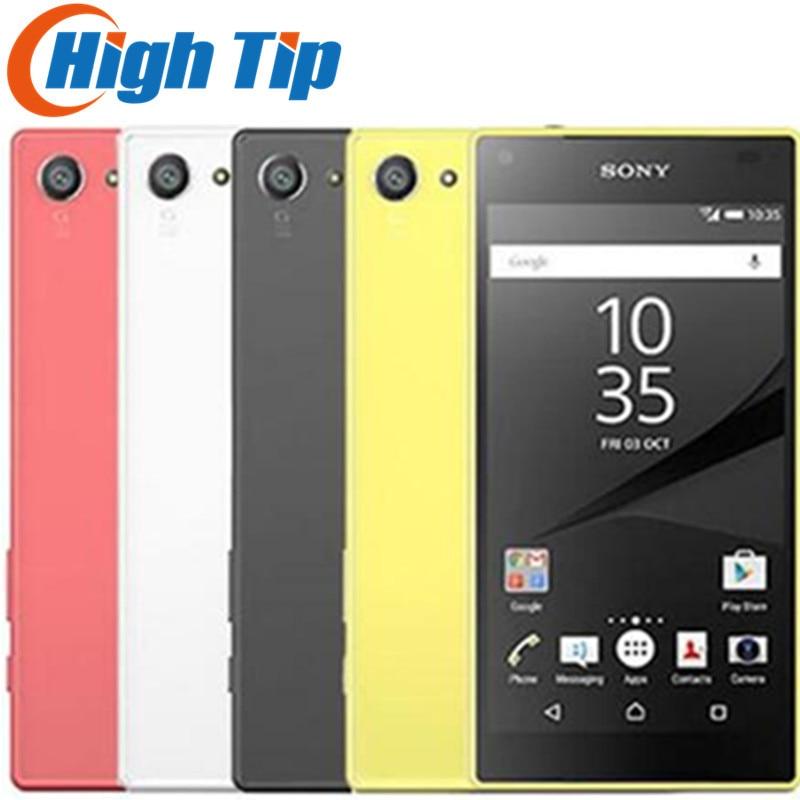Sony Xperia Compacto Z5 E5823 32 2 gb RAM gb ROM Desbloqueado Originais Android Quad-Core & Quad Core 23MP GSM Telefone Inteligente