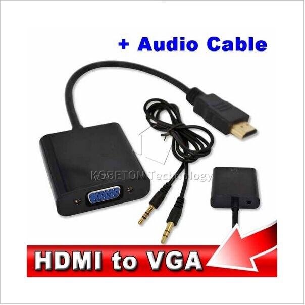 Kebidu 10 teile/satz Männlich zu Weiblich HDMI zu VGA Kabel Adapter Konverter mit Audio Kabel für PC Laptop HDTV für Xbox 360 PS3 1080 P-in Kabel aus Verbraucherelektronik bei  Gruppe 1