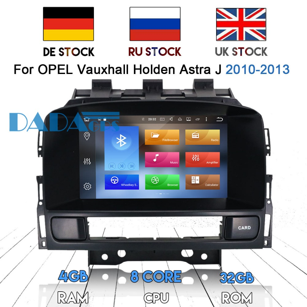 Android 9.0 Car Radio DVD Player GPS for OPEL Vauxhall Holden Astra J 2010 2011 2012 2013 Car Stereo IPS Screen HD 1080P image