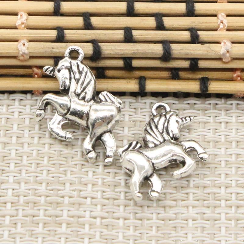 10pcs Charms horse unicorn 19*16mm Tibetan Silver Plated Pendants Antique Jewelry Making DIY Handmade Craft