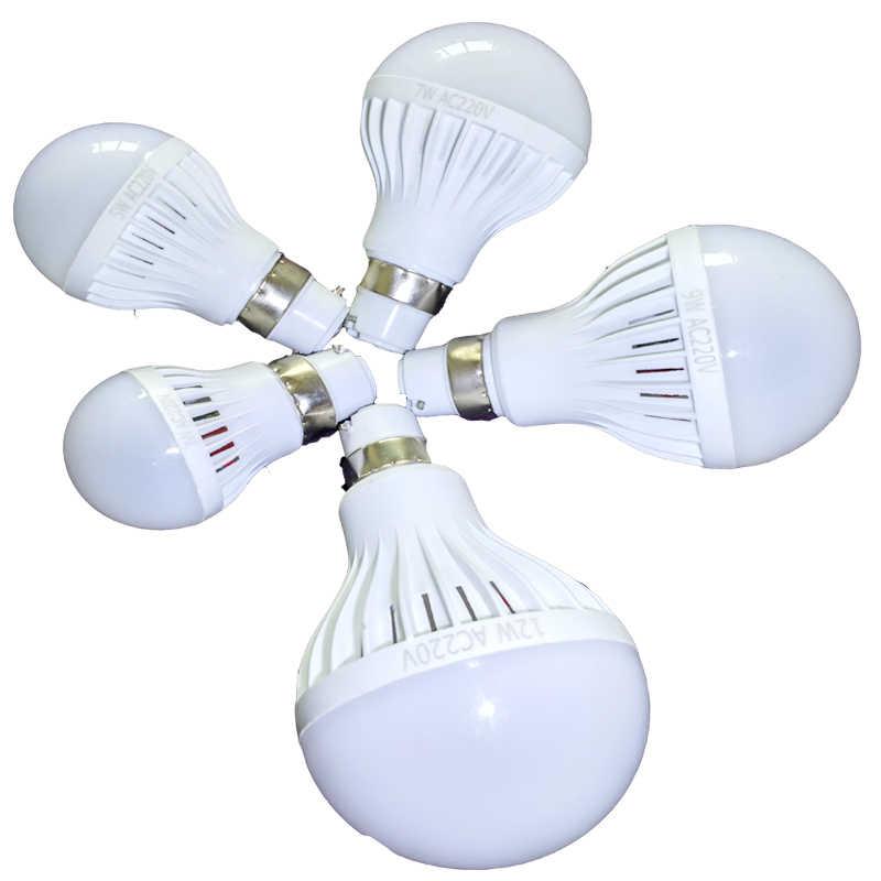 Led Light Bulb E27 B22 3W 5W 7W 9W 12W 5730 led bulb 110V E14 Led 220v Candle Light spotlight led lampada