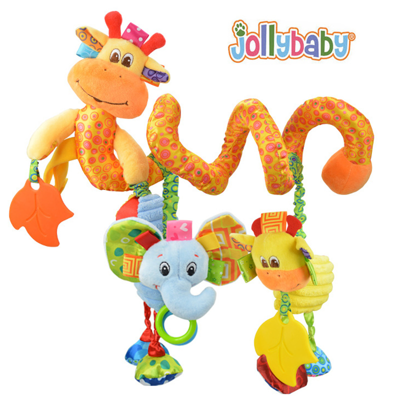 Lovely infant toy baby crib revolves around the bed stroller hanging Development educational toy Rattle Mobile Teether 24% off
