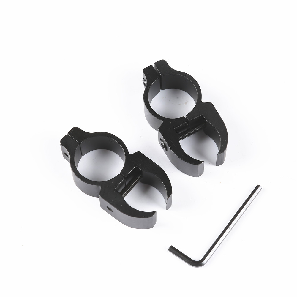 2PCS Tactical 25.4mm Rifle Scope Rail Mount Ring 20mm For Bike Torch Flash Light Telescope Clip Clamp Scope High Profile Riser
