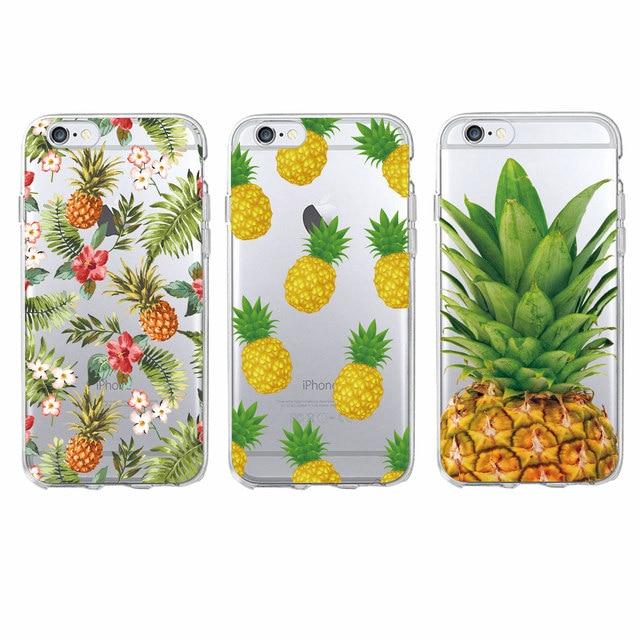 Linda moda verano piña Floral suave funda para teléfono funda para iPhone 6 6 S 7 7 Plus 5 8 8 PLUS X XS X Max SAMSUNG Galaxy