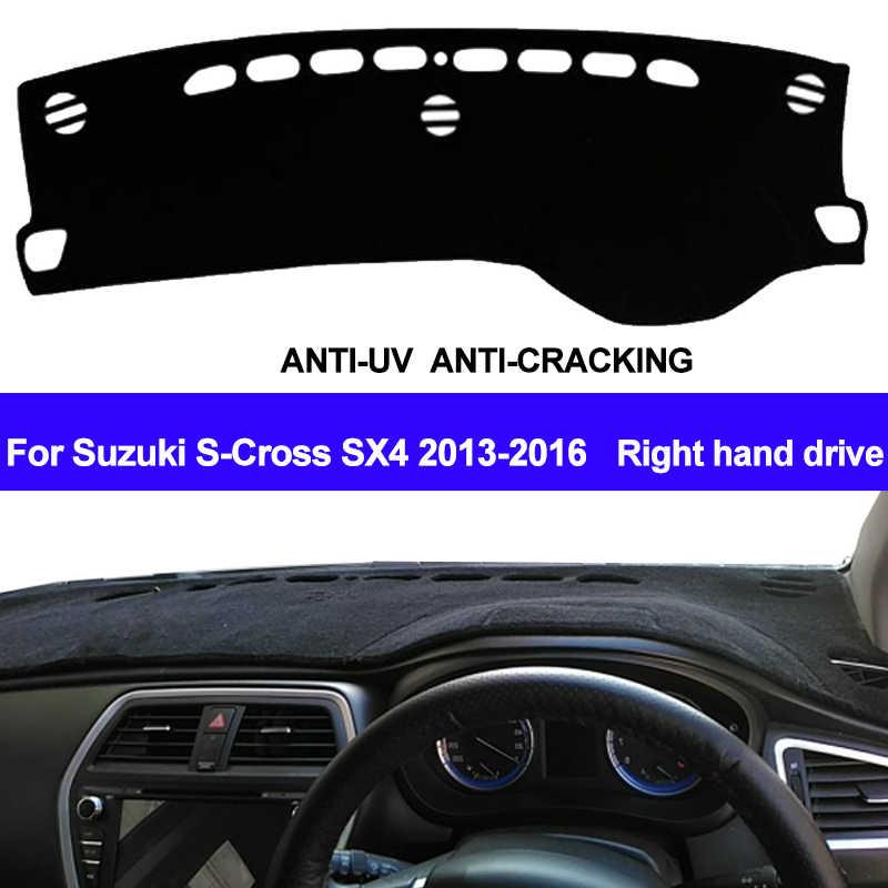 TAIJS приборной панели автомобиля Обложка коврик с рельефом для Suzuki S-Cross S Крест SX4 2013 2014 2015 2016 авто коврик для панели Pad правым