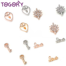 TOGORY 2019 New Fashion Round Crystal Charms Shining Fits Leather Bracelets DIY Pandora Mesh Bracelet Jewelry as Women Gifts(China)