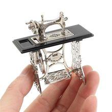 Миниатюрная игрушка, винтажная миниатюрная швейная машина, мебель, игрушки, подарки для 1/12, кукольный дом, Декор, Ретро стиль, детские игрушки, аксессуары