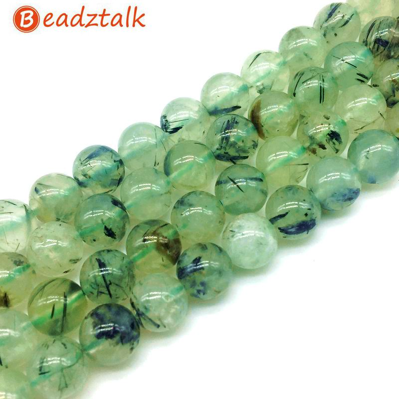 6mm Natural Prehnite Gemstone Beads Strand of 65