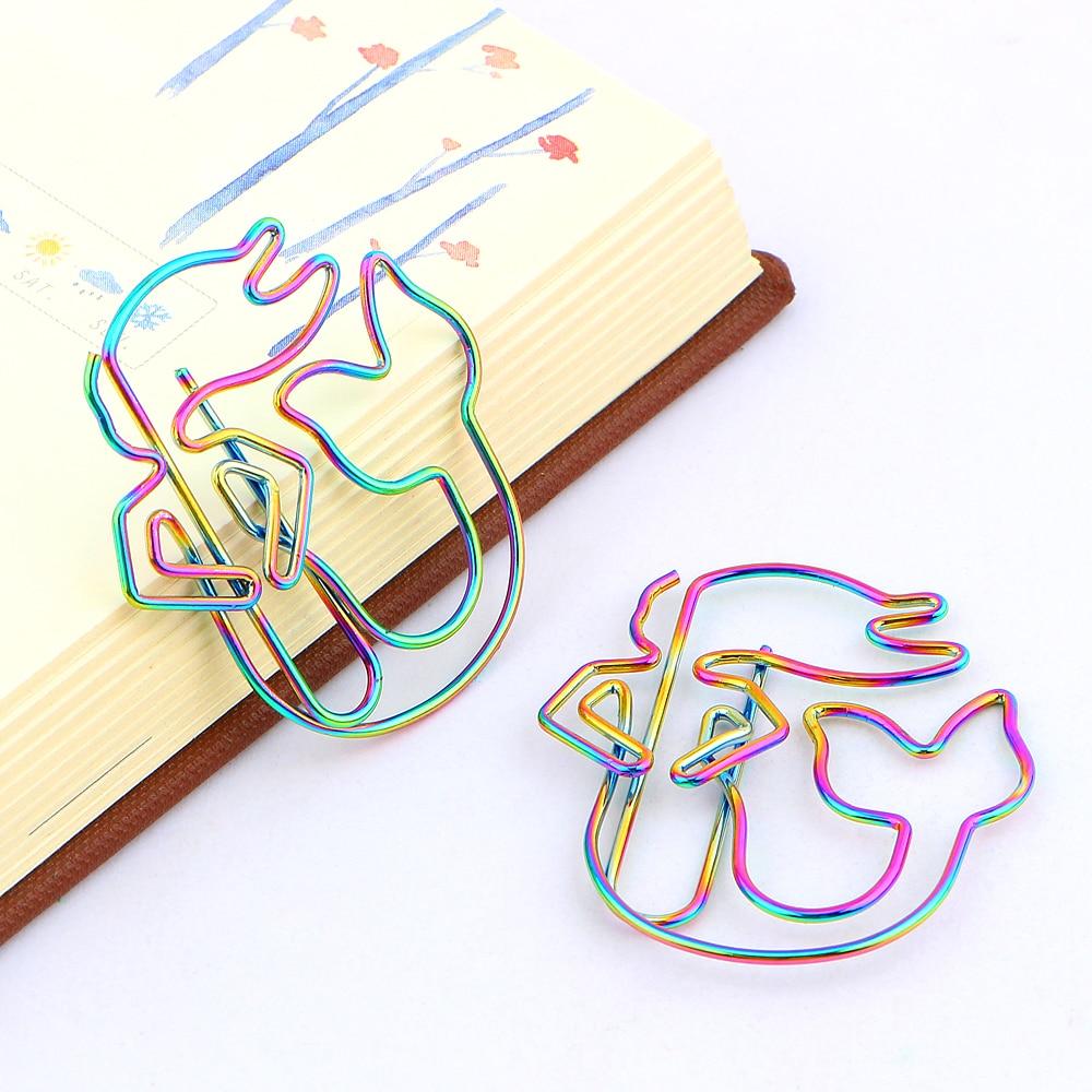 8 шт/лот красочные радужные скрепки русалки гальванические металлические