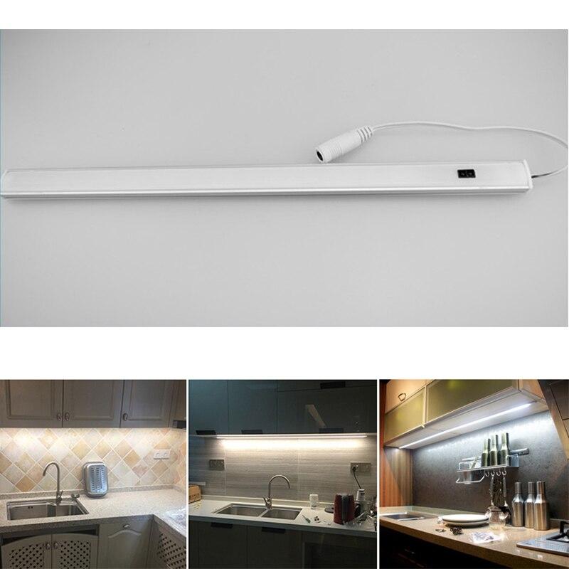 12 V détecteur de mouvement LED sous le meuble lumière LED s bande cuisine lumières lampe de salle de bain dans le placard armoire lampes placard éclairage
