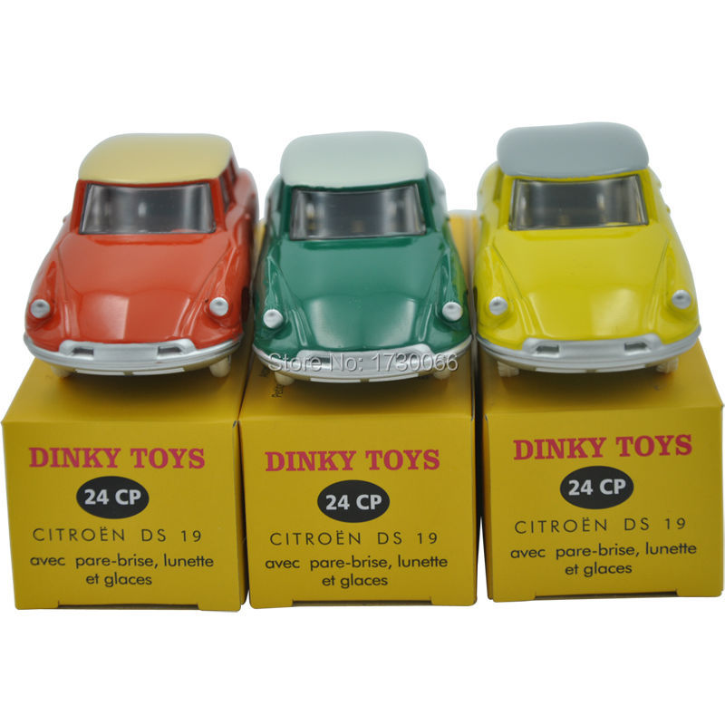 Suit Atlas DINKY TOYS 24CP 24 CP CITROEN DS 19 Scale 1:43 Diecast Metal Car Model  Yellow Blue Red