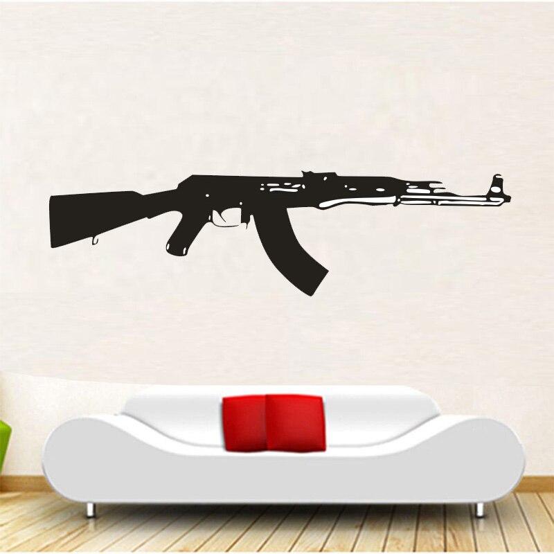 new sale wall decal vinyl sticker ak 47 gun weapon military decor 5