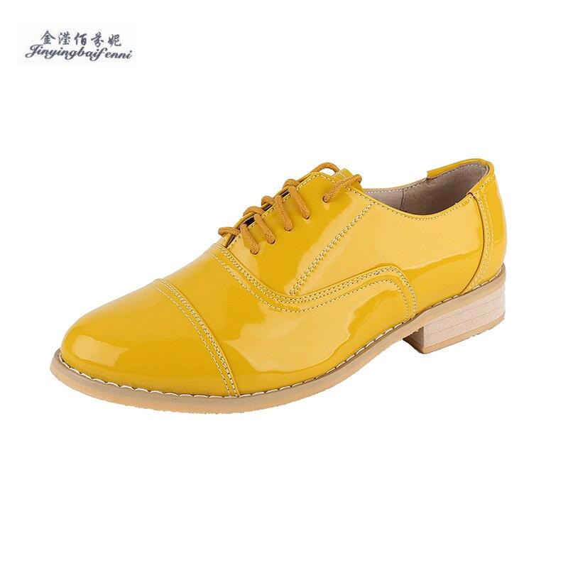 2020 ใหม่ผู้หญิงรองเท้าสบายๆรองเท้า lace up รองเท้าหนังแท้รองเท้าสตรีรองเท้า sapatos femininos sapatilha Brogues Oxfords รองเท้าผู้หญิง-ใน รองเท้าส้นเตี้ยสตรี จาก รองเท้า บน AliExpress - 11.11_สิบเอ็ด สิบเอ็ดวันคนโสด 1