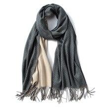 Autumn Winter Imitation Cashmere Tassel Women Elegant Scarves Splice Scarf Thick Warm Shawl Long Scarf Neckerchief For Lady