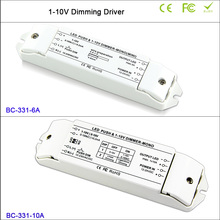 BC DC12V-24V,6A/10A*1CH LED Dimmer fluorescent lamps dimmer 0/1-10v lamp dimming driver push controller