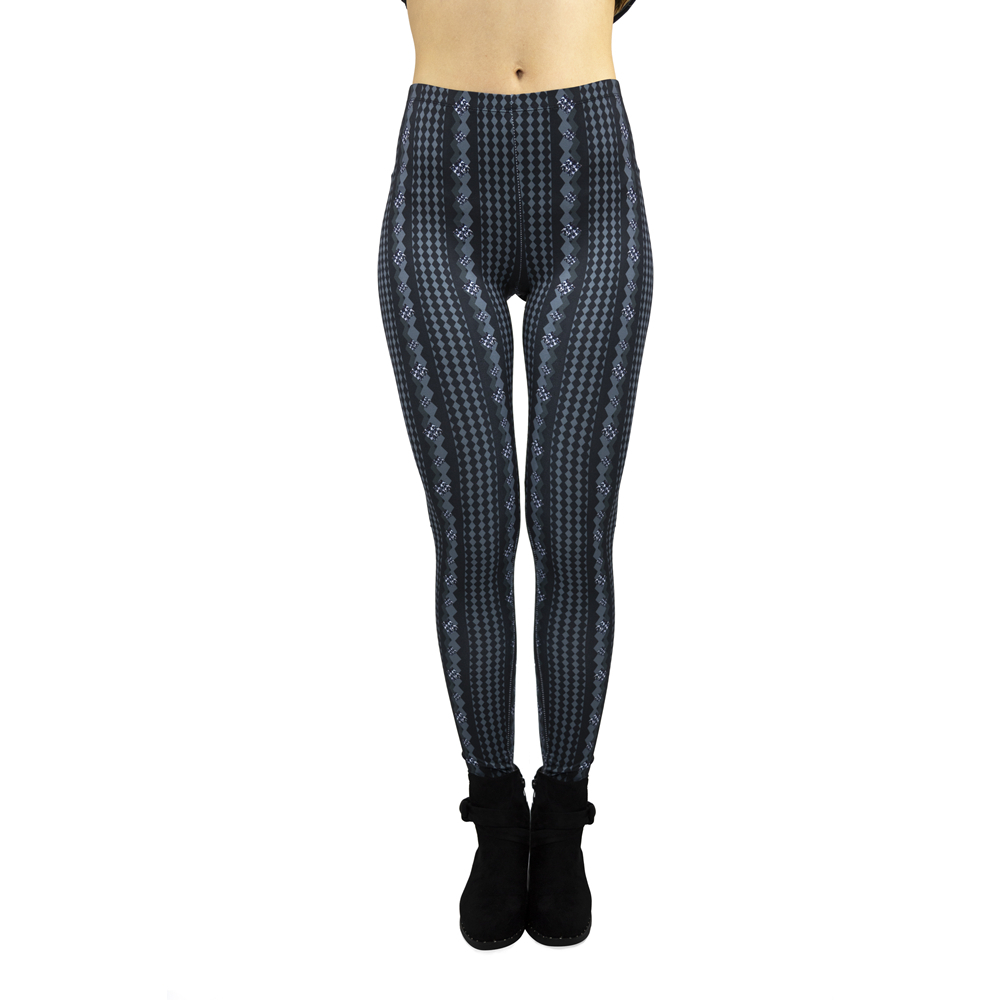 New Arrivals Blue High Quality Women's Fashion Simple Printing Pants Slim Fitness Sexy Seductive Workout Leggings