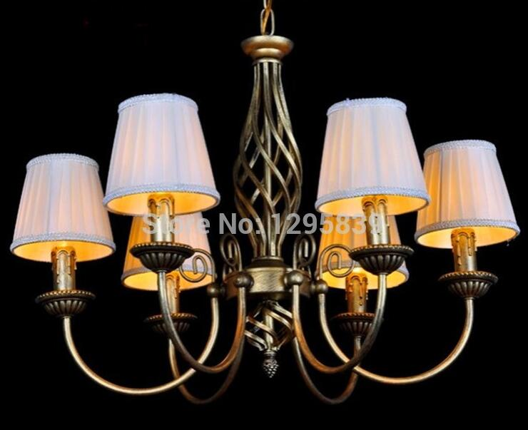 Multiple Chandelie restaurant pendant  lamp vintage wrought iron candle bedroom lamps lighting living room warm pastoral ZX54  pendant light fashion 5 lamps rustic vintage lamp restaurant lamp wrought iron modern lighting bedroom lamp