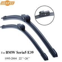 "QEEPEI Seria5 Limpiaparabrisas Para BMW E39 1995-2004 26 ""+ 22"" Coche Accesorios de Caucho Para Automóviles parabrisas Limpiaparabrisas, CPZ103"