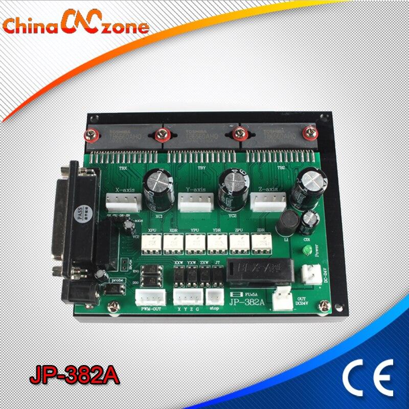 USB CNC 3 Axis Motor Stepper Drive Controller Board JP-382A Drive for Mini CNC 3040 Wood Machine CNC Manufacturer Supplier motor drive 4 5a 50v single axis stepper motor drive for 42 57 86 stepper motor drive