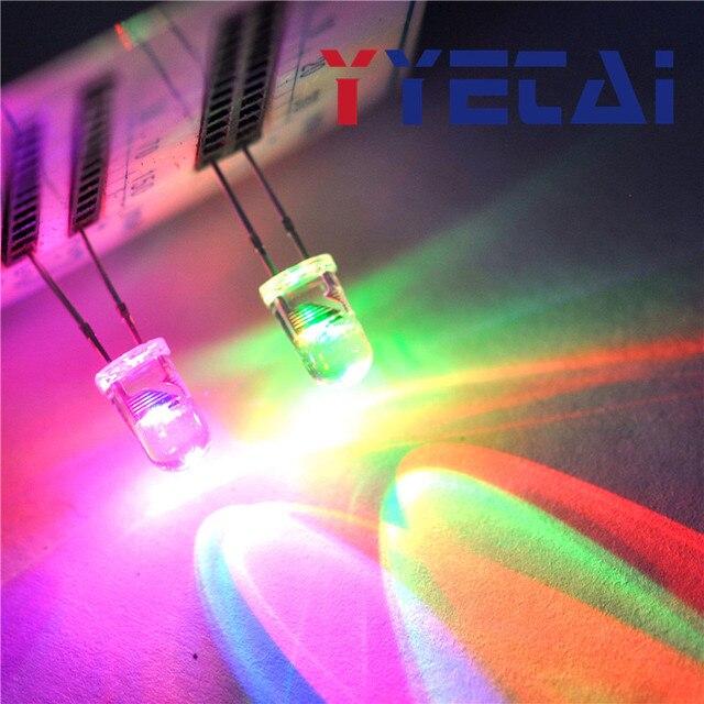 YongYeTai LED 5MM round colorful flash alternately slow flash free shipping