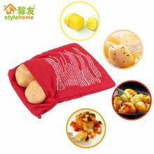 1 шт. красный моющийся пакет для плиты, запеченный картофель, микроволновая печь для приготовления картофеля, быстро(варит 4 картофеля сразу), кухонные аксессуары