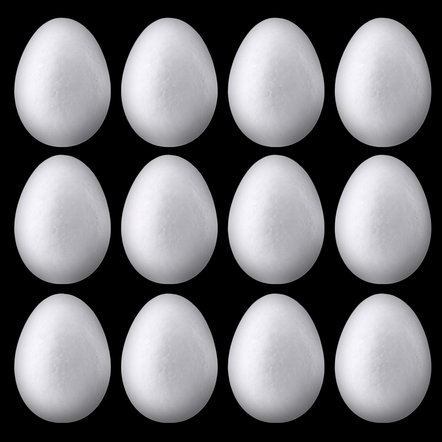 Besegad 50pcs 6cm Free Painting Natural White Foam Eggs Handmade Balls For DIY Easter Eggs Decorations Painting Crafts Supplies