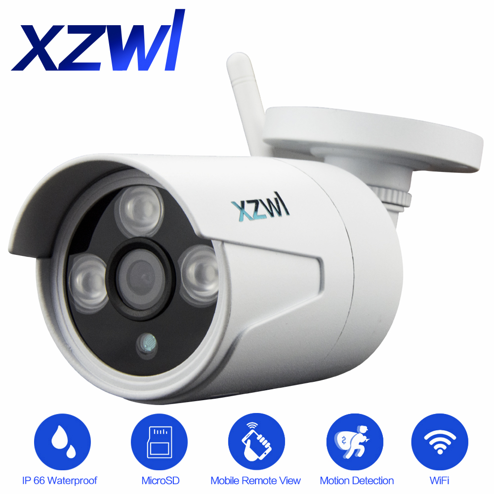 XZWL HD 720P outdoor waterproof Wifi network IP camera 1MP wireless P2P Onvif infrared night vision detection sports CCTV camera outdoor 720p ip camera hd wireless wifi array ir night vision bullet onvif waterproof cctv security ip 1mp network web camera