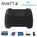 Avatto i8 g 2.4g wireless gaming mini teclado con touchpad para smart tv, Android TV Box, Raspberry Pi, PC portátil, PS3