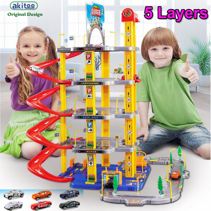 akitoo 1049 hot Large children s alloy track car parking toy set  boy model scene toys 3/4/5 layers early education toys giftakitoo 1049 hot Large children s alloy track car parking toy set  boy model scene toys 3/4/5 layers early education toys gift