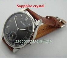 Сапфировое стекло 44 мм PARNIS серый циферблат чайки ST3621/6498 Механическая Рука Ветер движения механические часы мужские часы