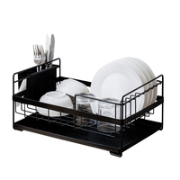 Kitchen Storage Organizer Dish Drainer Drying Rack Kitchen Sink Holder Tray For Plates Bowl Cup Tableware Shelf Basket