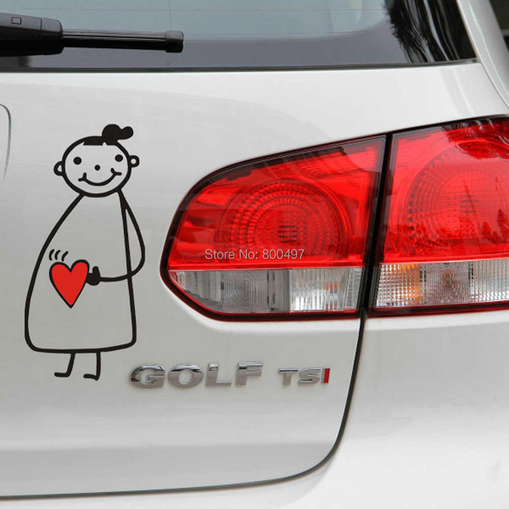Nuevo diseño, adhesivo divertido para coche, pegatina de mamá para chica embarazada en coche para Toyota Chevrolet Volkswagen Tesla Honda Hyundai, kia, LADA