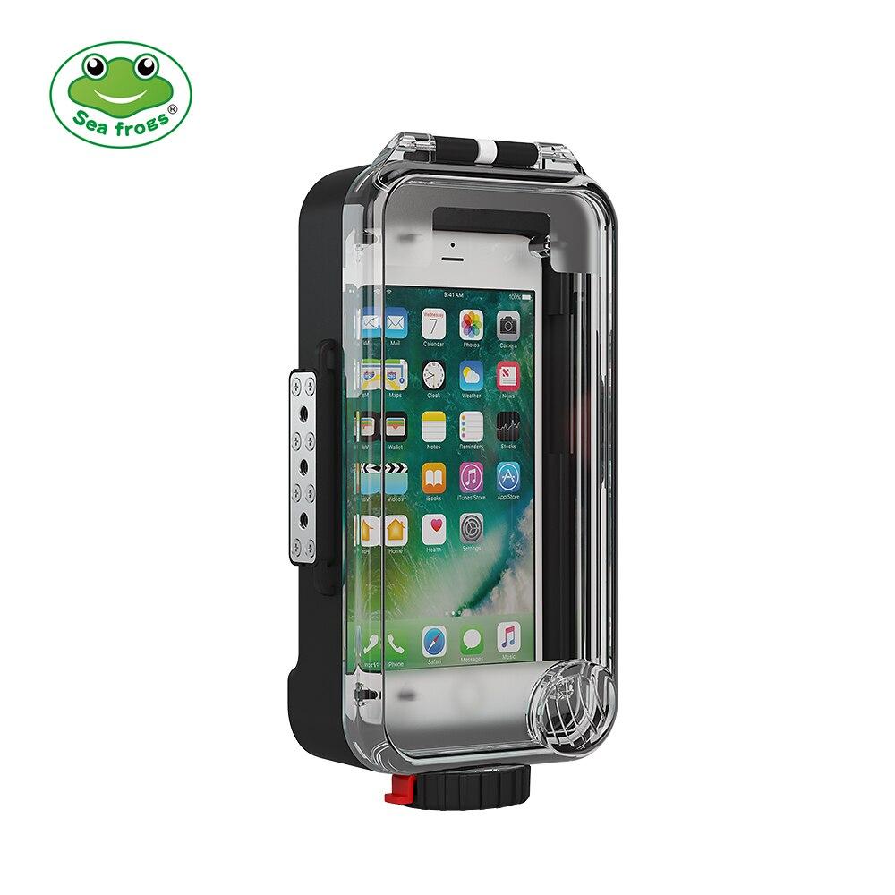 Seafrogs Универсальный соединяющийся с сотовым телефоном по Bluetooth корпус Box Подводные 40 м фотографии чехол для iPhone huawei samsung Xiaomi смартфон