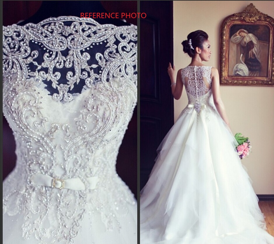 2014 Hot Sale White Ball Gown Popular Vera Beading Unique