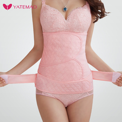 YATEMAO Лидер продаж пояс для живота хлопок средства ухода за кожей Форма r животик управление твердая форма одежда послеродовой похудения ниж...