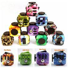Original Spinner Fidget font b Toy b font Fidget Cube Camouflage Blue Relieves Anxiety and Stress