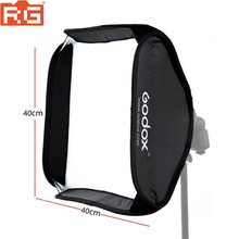 Godox 40x40cm softbox (apenas softbox) para câmera estúdio flash caber bowens elinchrom montagem