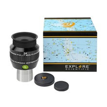 New Explore Scientific Eyepiece 68 degree Extreme Wide Field Waterproof 1.25inch 24mm Argon Purged EMD Coatings