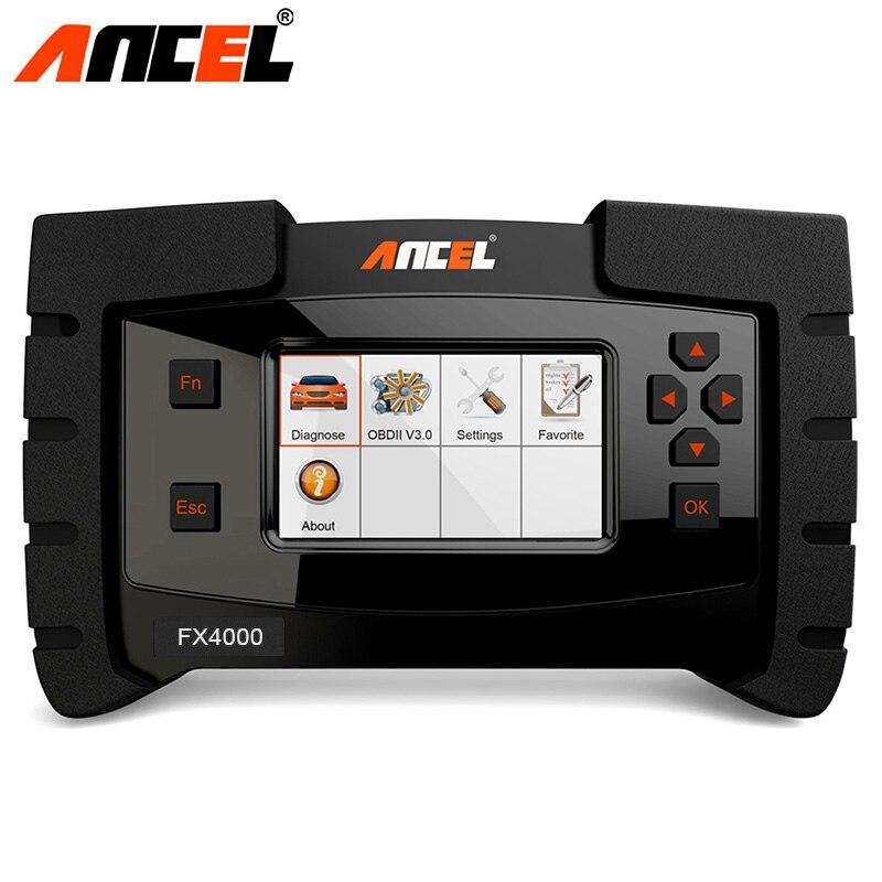 Strumento diagnostico ANCEL FX4000 OBD2 Scanner Completa del Sistema OBD 2 SAS Olio motore Trasmissione ABS SRS Audio ODB2 OBD Auto diagnostica