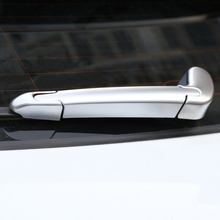 abs chrome rear door switch control button panel cover trim car styling for jaguar xf xe xfl f pace 2016 2017 2018 accessories For Jaguar F-Pace f pace X761 2016 2017 Car ABS Chrome Car Rear Window Wiper Arm Blade Cover Trim car Styling  accessories 3pcs