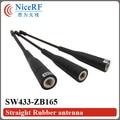 5 unids/lote SW433-ZB165 Ganancia 3.0 dBi 433 MHz antena de Varilla Recta para el envío libre