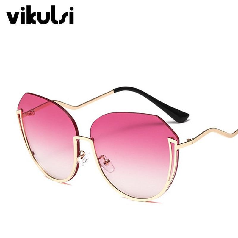 266297b94f Half Frame Brand Designer Sunglasses Women Oculos Round Ladies Sun Glasses  Luxury 2019 New Flat Gradient Lens Sun Glasses Female