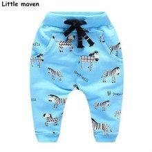 Peu maven 2017 Automne bébé garçon pantalon terry coton cordon pantalon enfants de zèbre enfants l'école élastique pantalon 10152