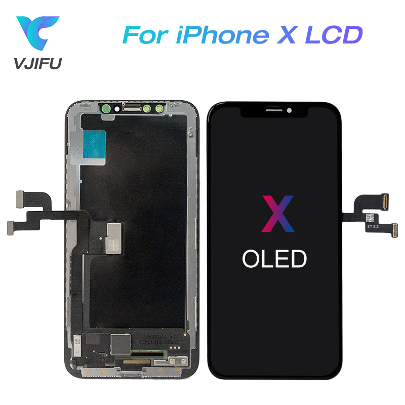 For iPhone X LCD Display Super AMOLED Soft OLED OEM Touch Screen With Digitizer Replacement Assembly Parts BlackFor iPhone X LCD Display Super AMOLED Soft OLED OEM Touch Screen With Digitizer Replacement Assembly Parts Black