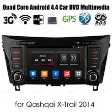 """Android4.4 Car DVD player auto Stereo Quad Core For Qash Qai XTrail 2014 support dab+ WiFi 3G GPS 8"""" 2 din Radio"""