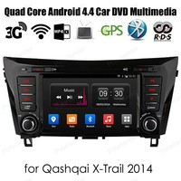 Android4.4 dvd плеер автомобиля Авто Стерео 4 ядра для qash qai XTRAIL 2014 Поддержка dab + WiFi 3G GPS 8'' 2 DIN Радио