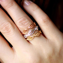 SMJEL Punk Rings for Women Adjustable Women DNA Chemistry Molecule Rings Double Helix Minimalist Ring Anillos mujer(China)